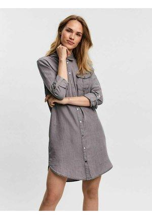 Robe chemise - light grey denim