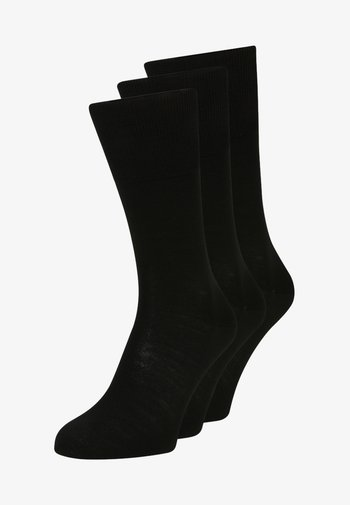 AIRPORT 3-PACK - Socks - black