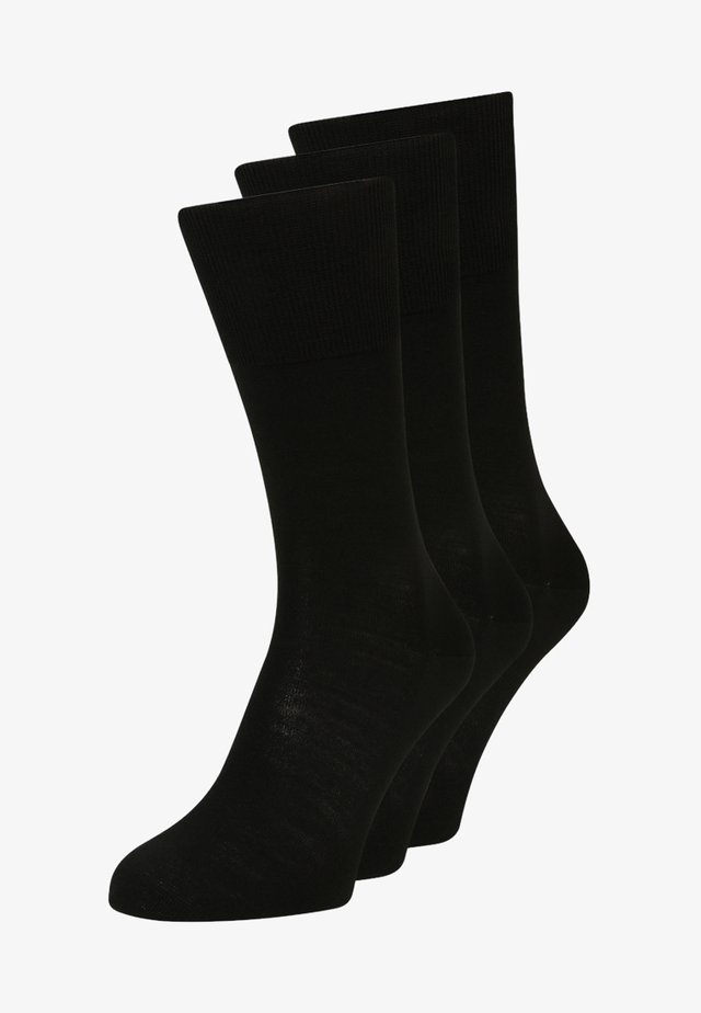 AIRPORT 3 PACK - Socks - black