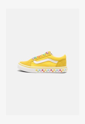 UY OLD SKOOL - Matalavartiset tennarit - rainbow/cyber yellow/true white