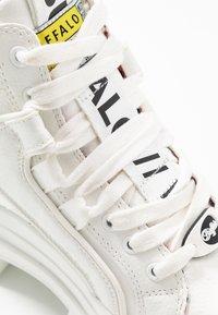 Buffalo - VEGAN ASPHA MID - Platform ankle boots - white - 2