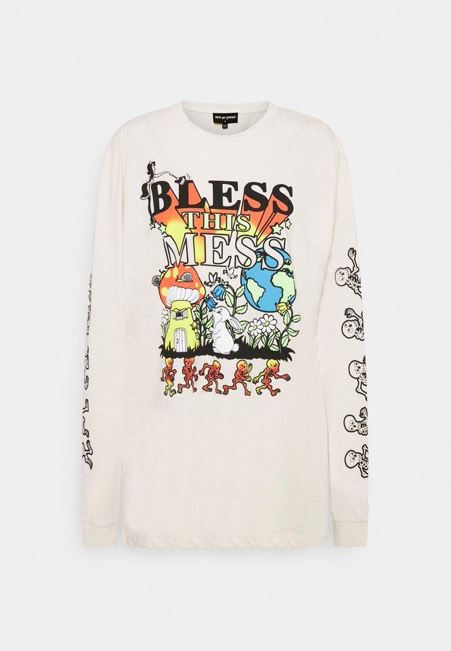 BLESS THIS MESS TEE - Langærmede T-shirts - cream