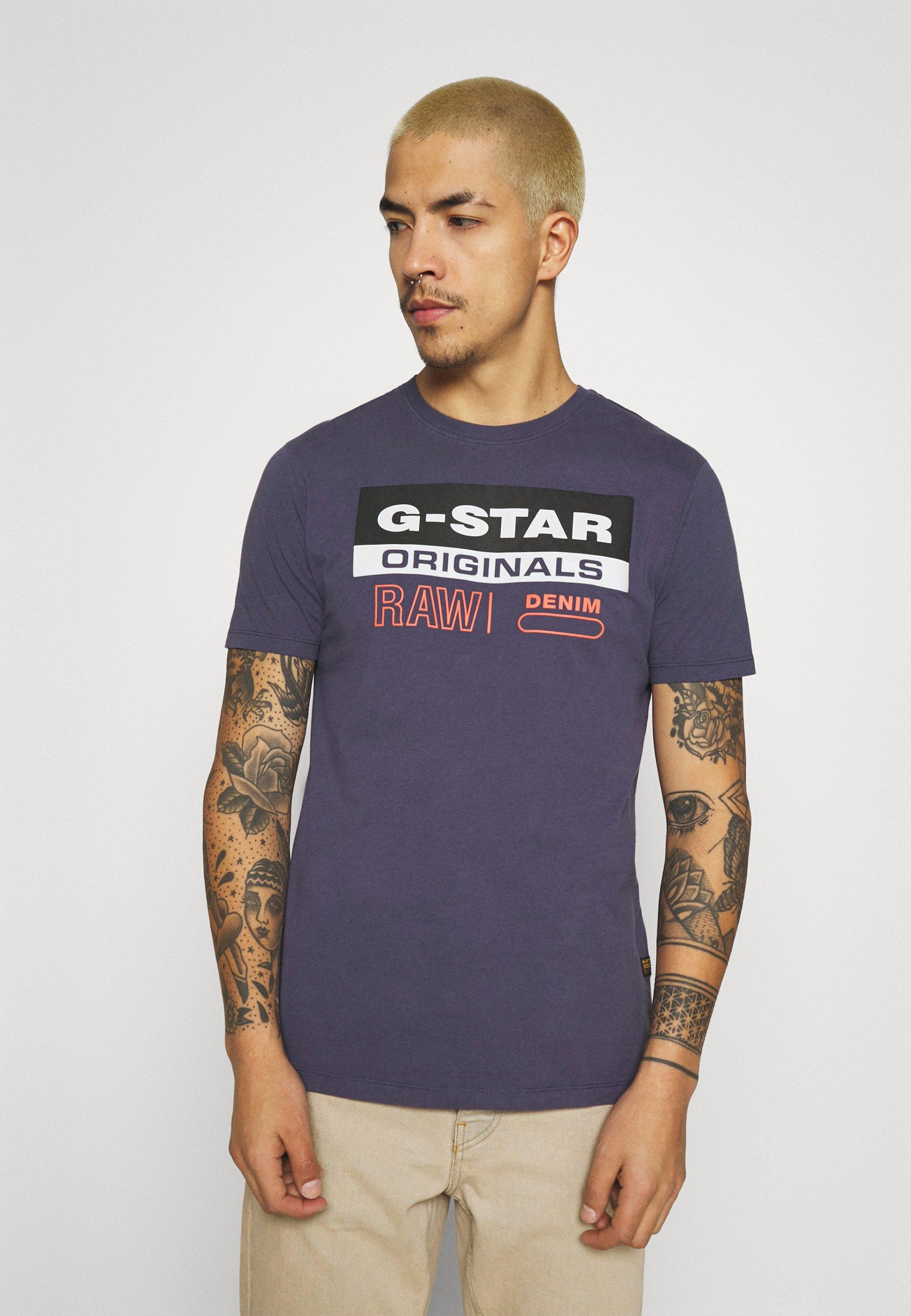 Men ORIGINALS LABEL LOGO SLIM ROUND SHORT SLEEVE - Print T-shirt
