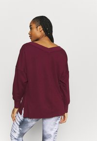 Nike Performance - YOGA COVER UP - Sweatshirt - night maroon/dark beetroot - 2