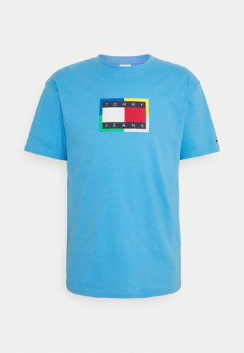 FLAG TEE UNISEX - Printtipaita - frigid blue