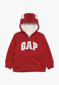GAP - COZY ARCH BABY - Sudadera con cremallera - modern red - 0