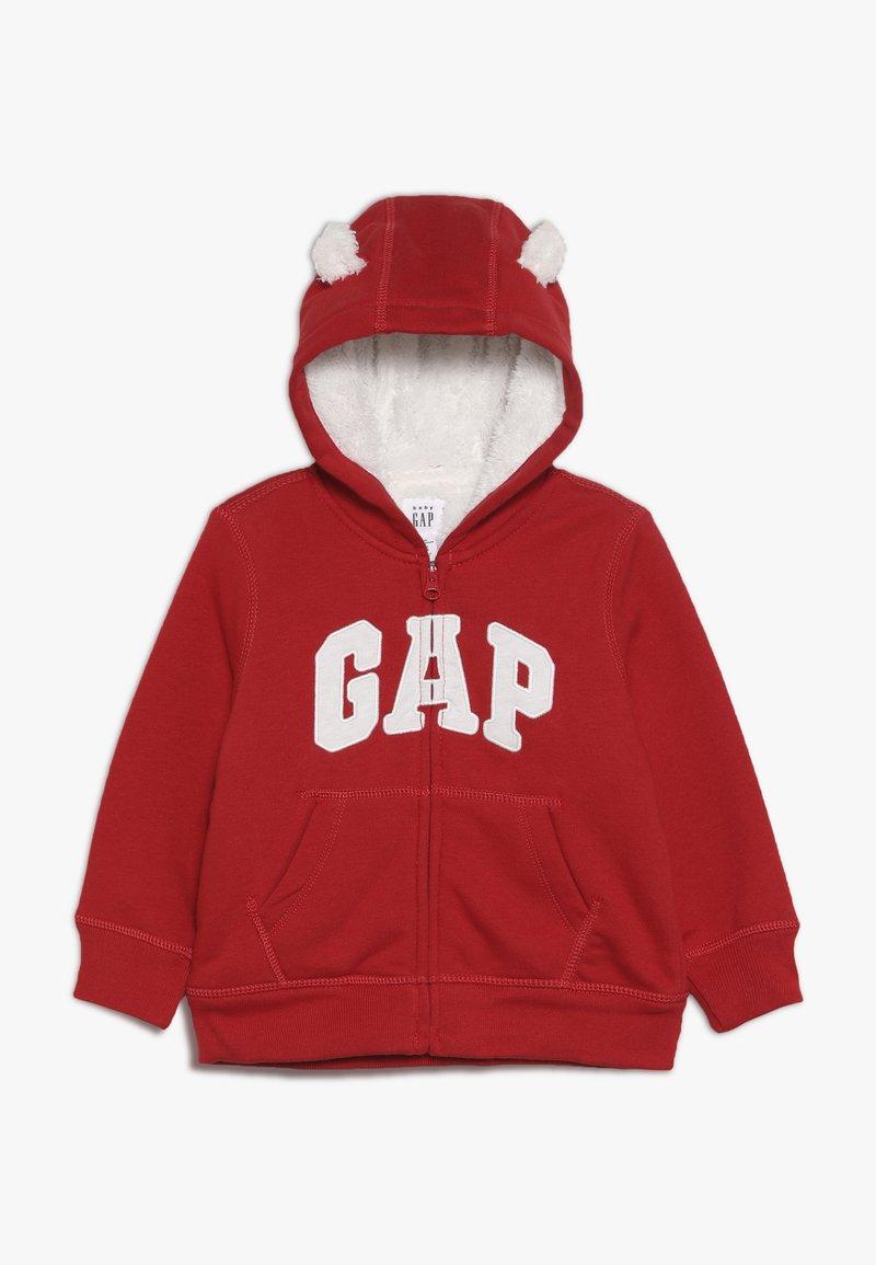 GAP - COZY ARCH BABY - Sudadera con cremallera - modern red