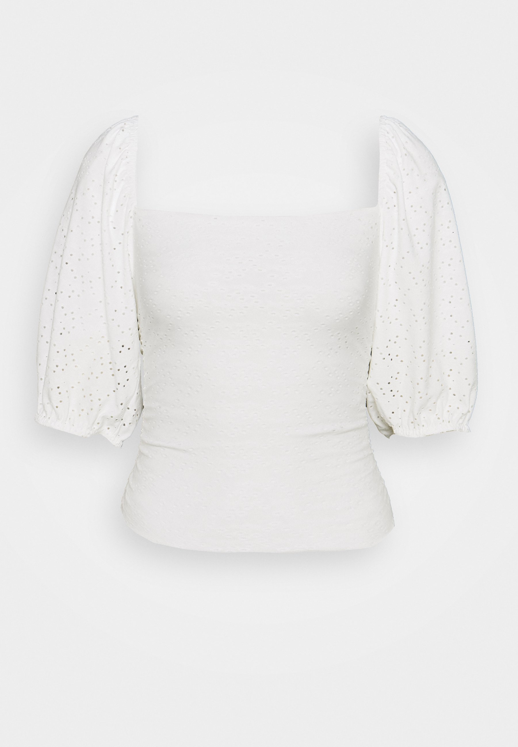 Women MILKMAID BRODERIE CROP - Print T-shirt