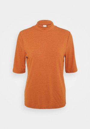 VISOLITTA FUNNELNECK - T-shirt basic - adobe
