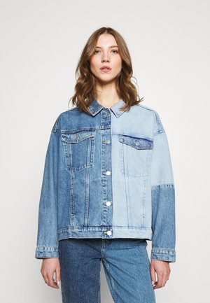 BONNIE JACKET BLOCK - Denim jacket - blue dusty light