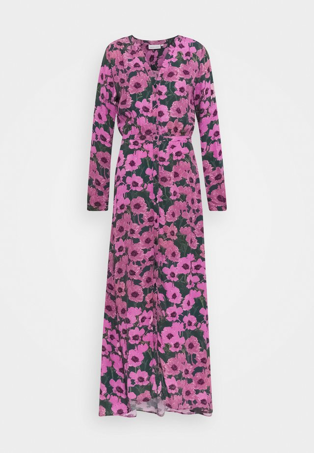 LISELOTTE DRESS - Maxi dress - bottle green/fuchsia
