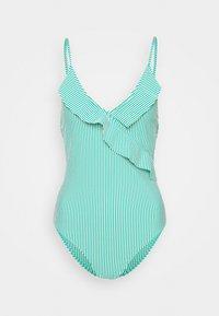 STRIBA FRILL SWIMSUIT - Swimsuit - golf green