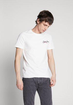 JORFLEXX TEE CREW NECK - Camiseta estampada - cloud dancer