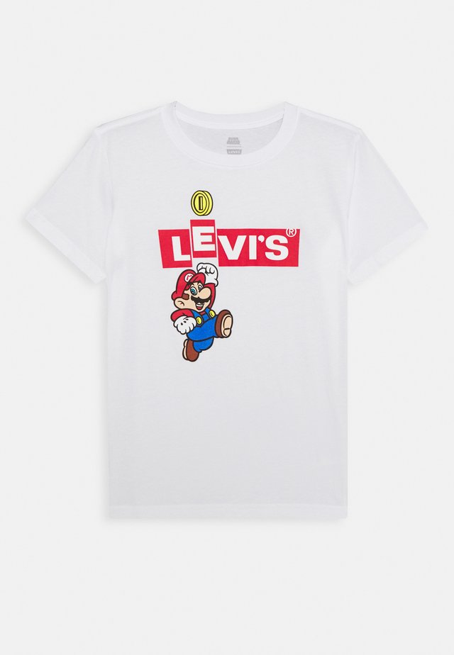 LEVIS MARIO BOX TAB TEE - Print T-shirt - white