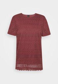 T-shirt print - rose brown