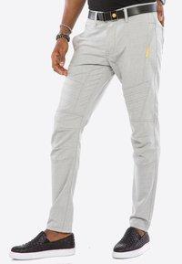 Cipo & Baxx - MIT ZIERNÄHTE - Trousers - grey - 5