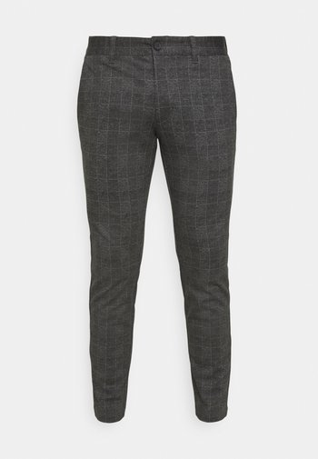 ONSMARK CHECK PANTS - Trousers - black