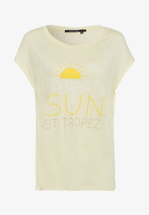 Print T-shirt - yellow varied