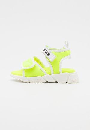 UNISEX - Sandales - neon yellow