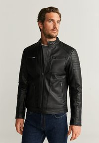 Mango - JOSENO - Faux leather jacket - black - 0