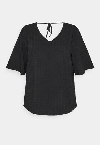 KCJOCIA BLOUSE - T-shirts - black deep
