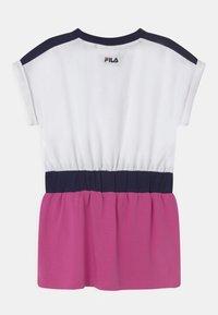 Fila - FILIO - Jersey dress - bright white/super pink/black iris - 1
