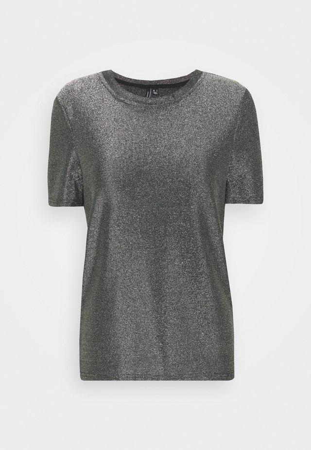 VMADALYN - T-shirt print - black/silver lurex