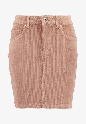 Mini skirt - cognac