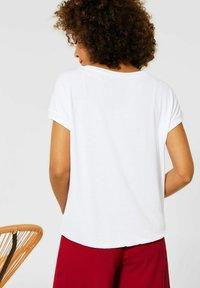 Street One - MIT STEINCHEN DEKO - Print T-shirt - weiß - 2