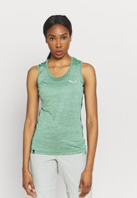 Salewa - PUEZ GRAPHIC DRY TANK - Sports shirt - feldspar green melange - 0