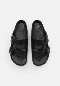 Armani Exchange - Sandalias planas - black/optic white - 3