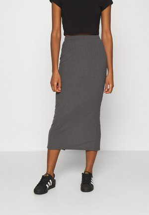 MIDI SLIT SKIRT - Pencil skirt - dark grey