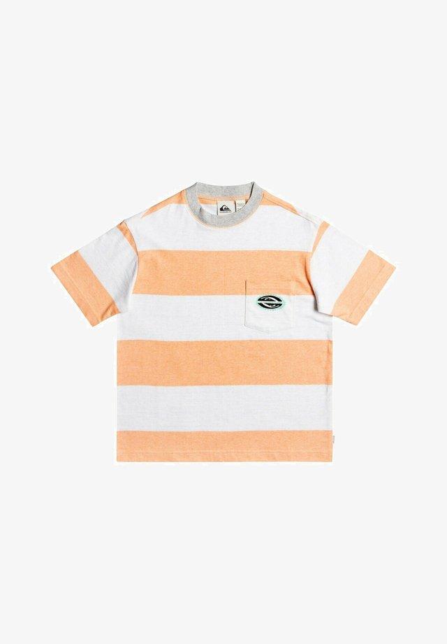 T-shirt print - apricot full charge