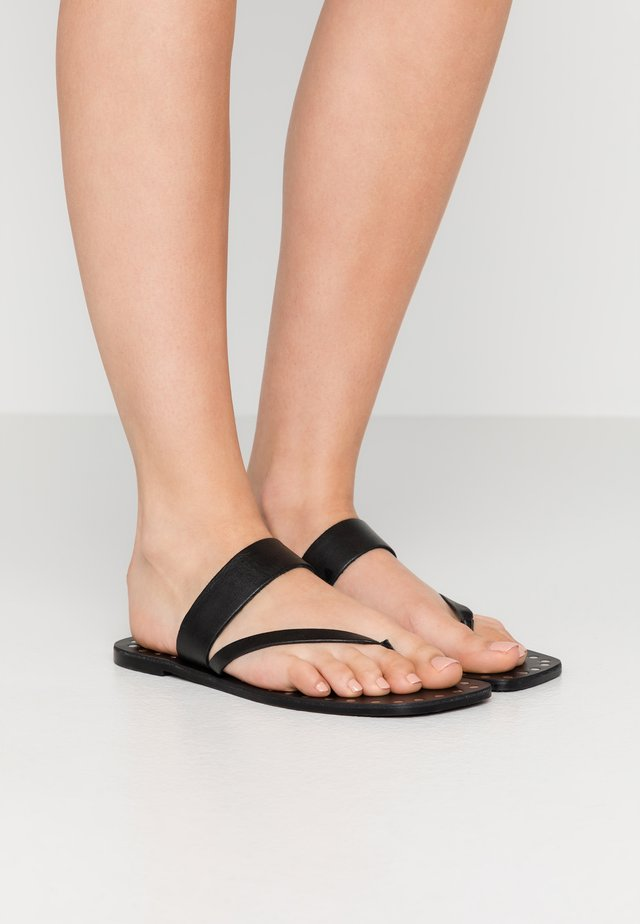 MYRA - T-bar sandals - black
