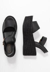Topshop - DOVE WEDGE - Platform sandals - black - 1