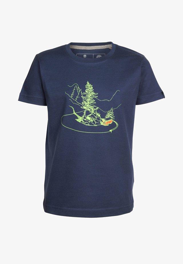 CURVYBUS MIT VW BULLI - Print T-shirt - darkblue