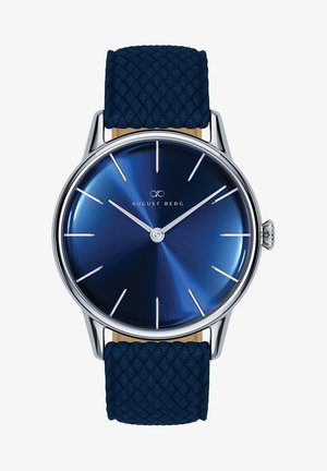 UHR SERENITY DEEP BLUE SILVER BLUE PERLON 32MM - Watch - sunray blue