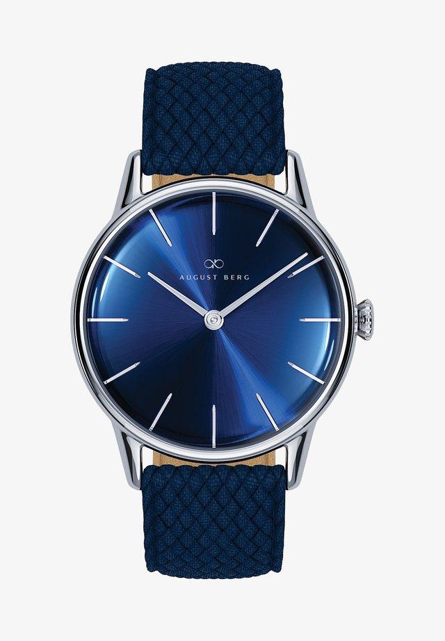 UHR SERENITY DEEP BLUE SILVER BLUE PERLON 32MM - Horloge - sunray blue