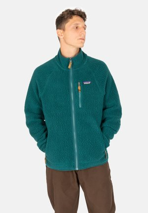 RETRO PILE  - Fleece jacket - dark borealis green