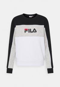 Fila - AMINA BLOCKED CREW - Felpa - bright white/black/light grey melange - 0
