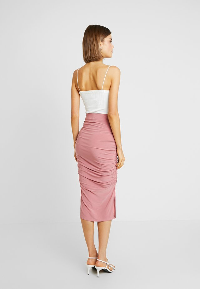 Pencil skirt - dusky pink