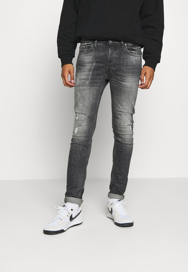 MORTEN DESTROYED - Jeans Skinny - darkgrey