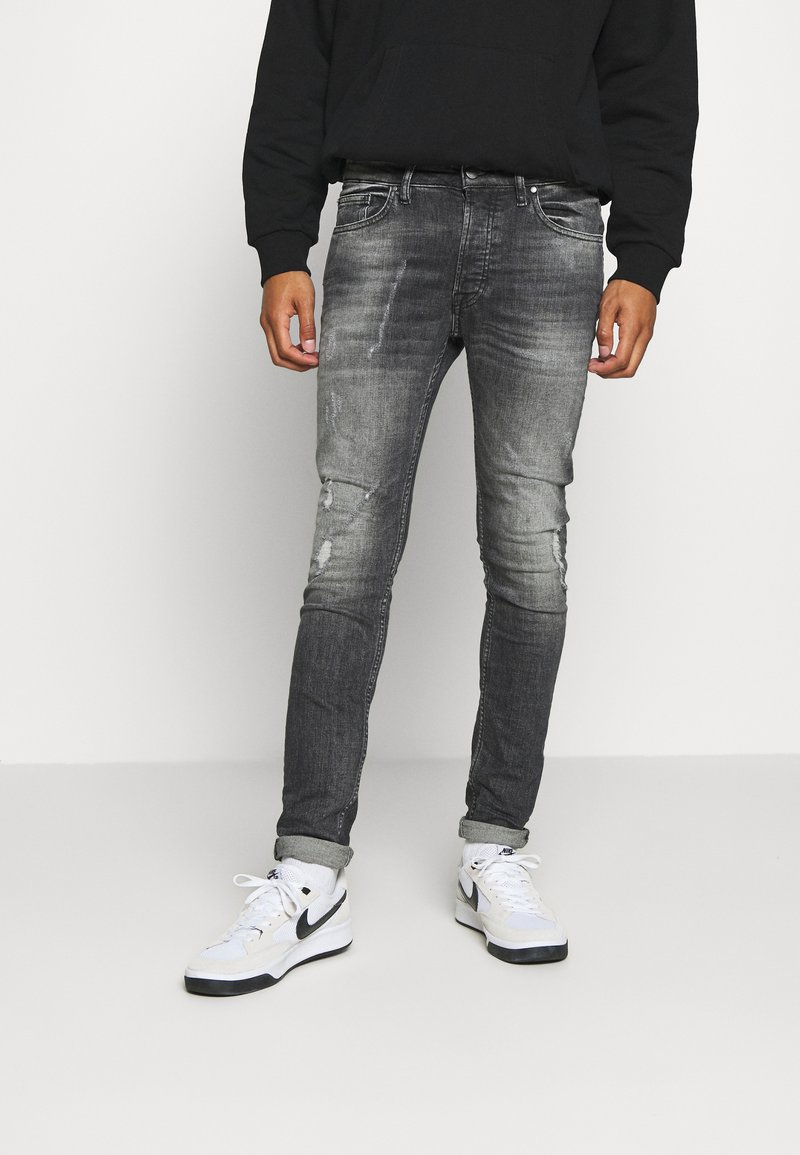 Tigha - MORTEN DESTROYED - Jeans Skinny Fit - darkgrey