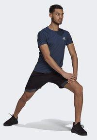 adidas Performance - OWN THE RUN SOFT T-SHIRT - Print T-shirt - blue - 1