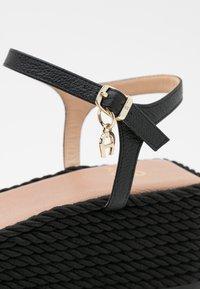 AIGNER - GRAZIELLA  - Platform sandals - black - 6
