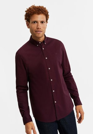 SLIM FIT  - Shirt - burgundy red