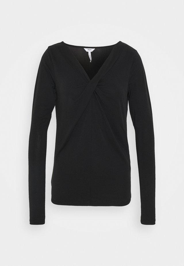 OBJTAMARA - Bluzka z długim rękawem - black