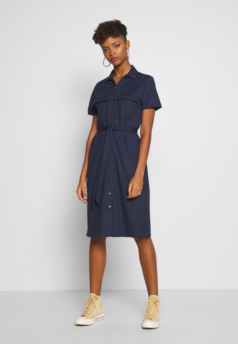 Vila - VISAFINA DRESS - Kjole - navy blazer