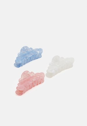 ONLNANNA HAIR CLIP 3 PACK - Hair Styling Accessory - pastel blue/pastel blue/lotus white