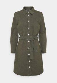 ONLY - ONLLAUREL LIFE FRILL DRESS - Košilové šaty - kalamata - 5
